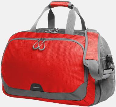 Röd Medelstor sport- & resväska med reklamtryck