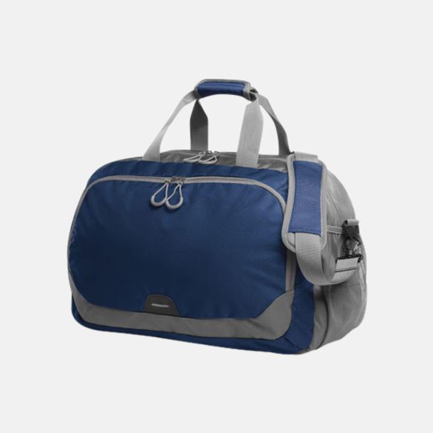 Marinblå Medelstor sport- & resväska med reklamtryck