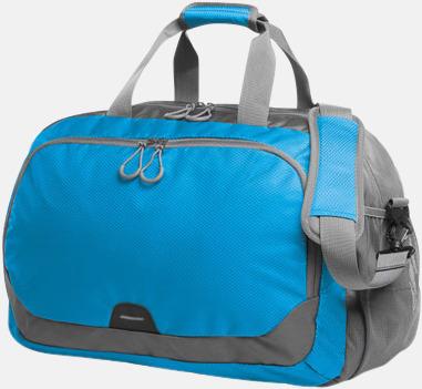 Cyan Medelstor sport- & resväska med reklamtryck
