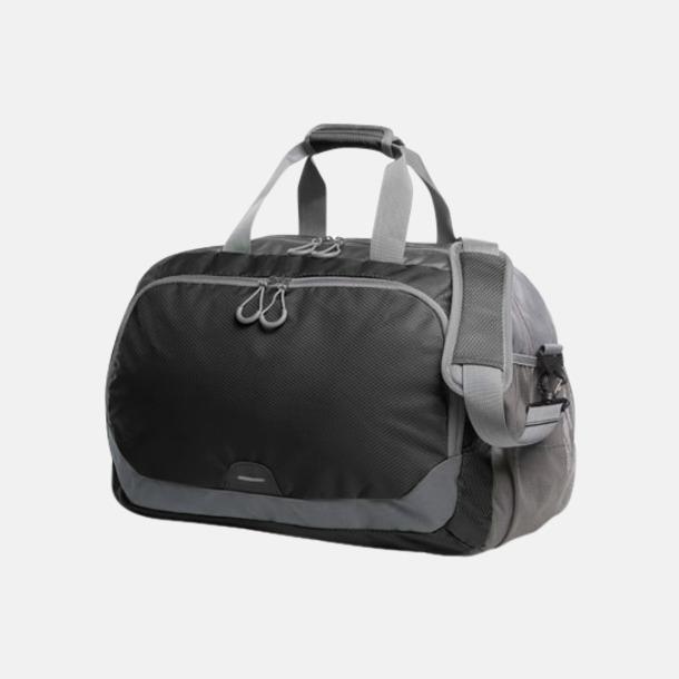 Svart Medelstor sport- & resväska med reklamtryck