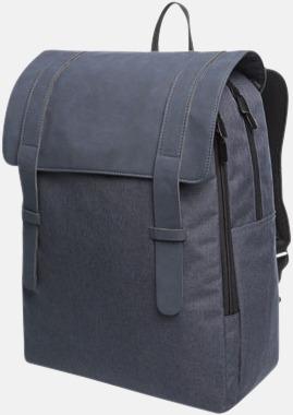 Mörkblå Ungdomlig datorryggsäck med reklamtryck