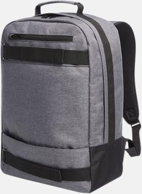Grey Melange Laptopryggsäckar från Halfar med reklamtryck