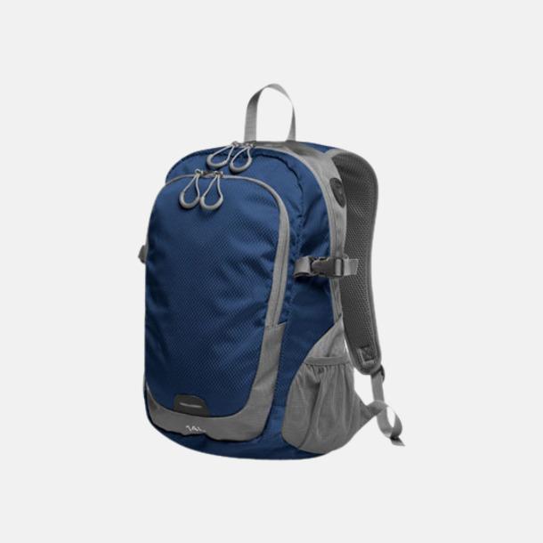 Marinblå (M) Sportiga ryggsäckar från Halfar med reklamtryck