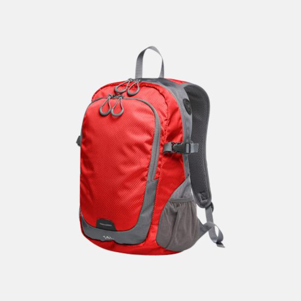 Röd (M) Sportiga ryggsäckar från Halfar med reklamtryck