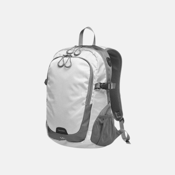 Vit (M) Sportiga ryggsäckar från Halfar med reklamtryck