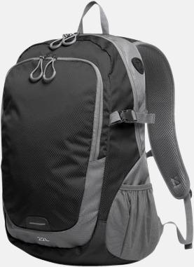 Svart (L) Sportiga ryggsäckar från Halfar med reklamtryck