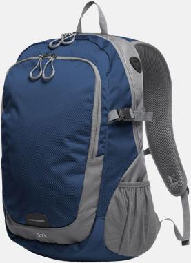 Marinblå (L) Sportiga ryggsäckar från Halfar med reklamtryck