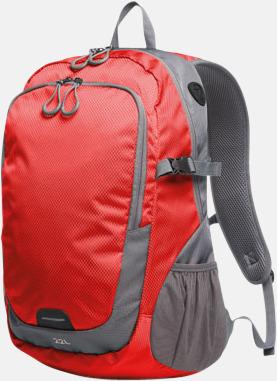 Röd (L) Sportiga ryggsäckar från Halfar med reklamtryck
