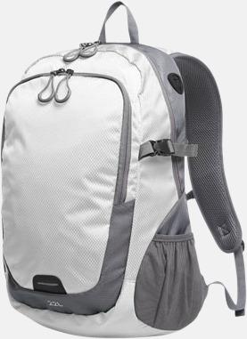 Vit (L) Sportiga ryggsäckar från Halfar med reklamtryck