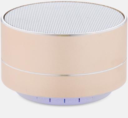 Guld 3W aluminiumhögtalare med reklamtryck