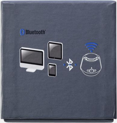 Bluetooth- tillika NFC-högtalare med reklamtryck