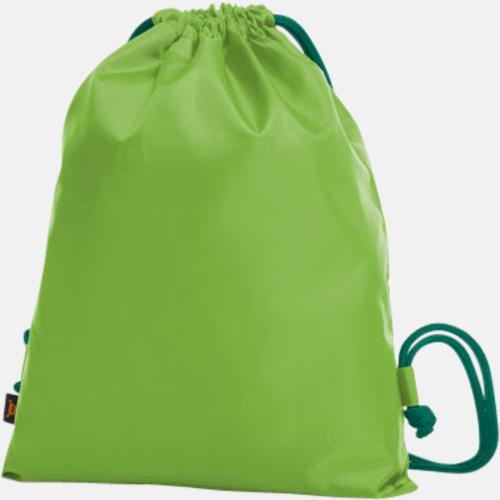 Limegrön / Grön Färgkombinerade gympapåsar med reklamtryck