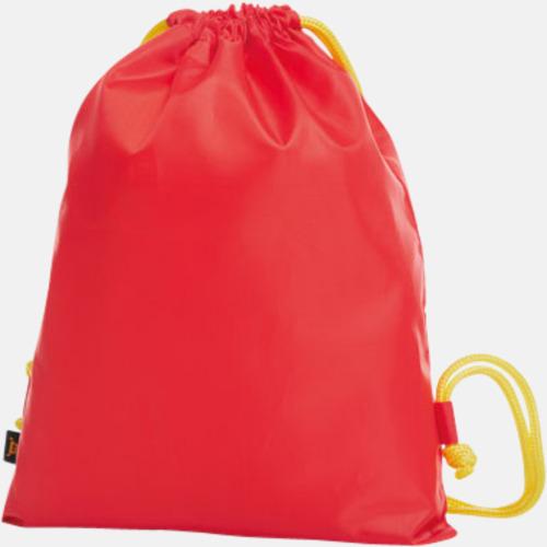 Röd / Gul Färgkombinerade gympapåsar med reklamtryck