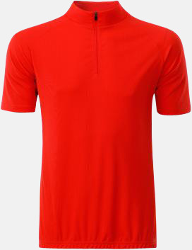 Bright Orange (herr) Enfärgade cykeltröjor med reklamtryck