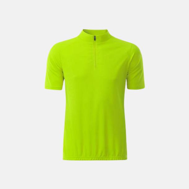Bright Yellow (herr) Enfärgade cykeltröjor med reklamtryck
