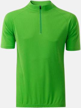 Limegrön (herr) Enfärgade cykeltröjor med reklamtryck