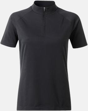 Svart (dam) Enfärgade cykeltröjor med reklamtryck