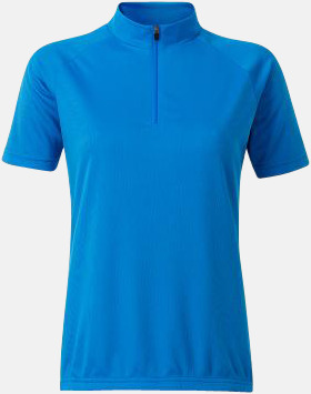 Bright Blue (dam) Enfärgade cykeltröjor med reklamtryck
