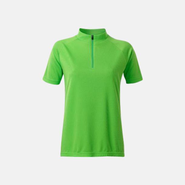 Limegrön (dam) Enfärgade cykeltröjor med reklamtryck