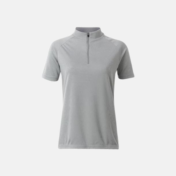 Silver (dam) Enfärgade cykeltröjor med reklamtryck