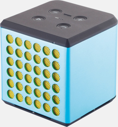 Blå / Gul 3W bluetooth-högtalare med reklamtryck