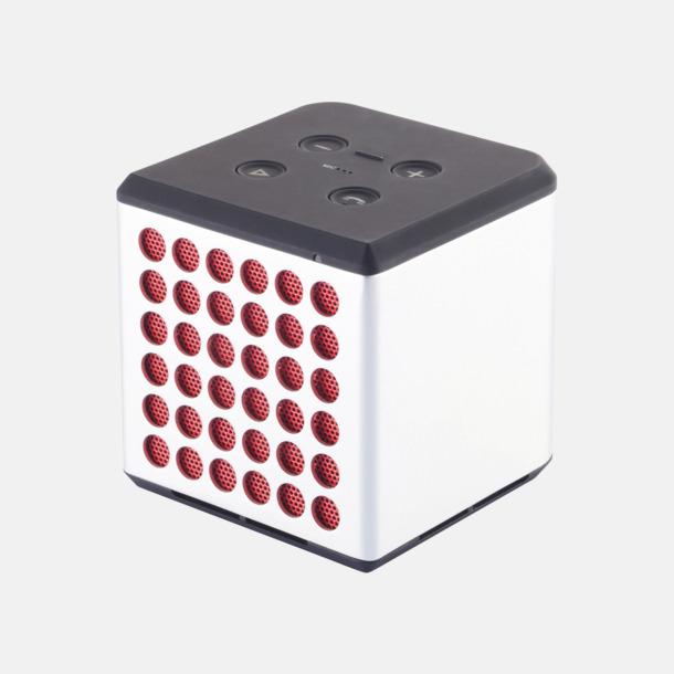 Grå / Röd 3W bluetooth-högtalare med reklamtryck