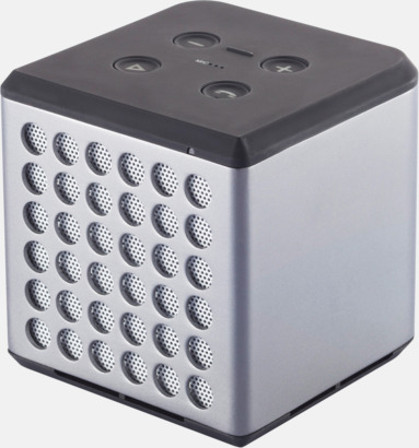Grå / Vit 3W bluetooth-högtalare med reklamtryck