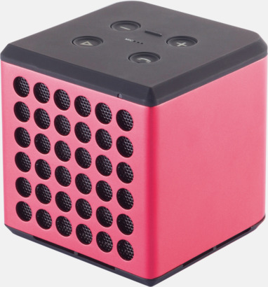 Röd / Svart 3W bluetooth-högtalare med reklamtryck
