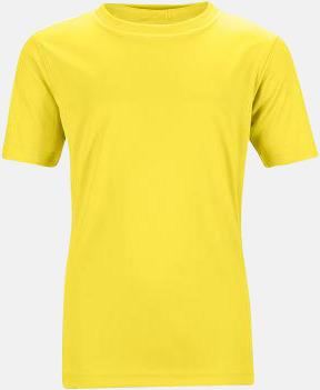 Gul Funktions t-shirts för barn - med reklamtryck