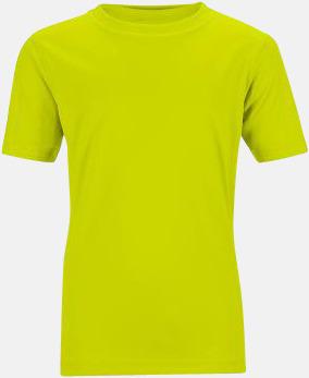 Acid Yellow Funktions t-shirts för barn - med reklamtryck