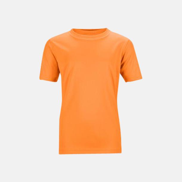 Orange Funktions t-shirts för barn - med reklamtryck