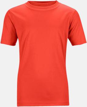 Röd Funktions t-shirts för barn - med reklamtryck
