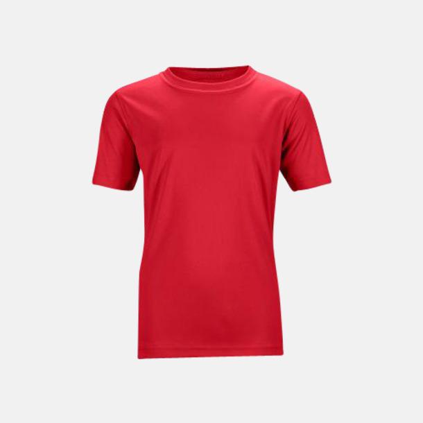 Mörkröd Funktions t-shirts för barn - med reklamtryck