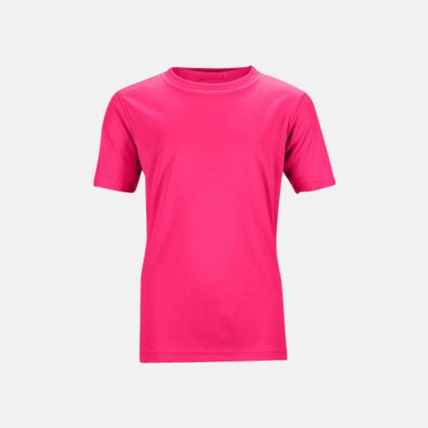 Magenta Funktions t-shirts för barn - med reklamtryck