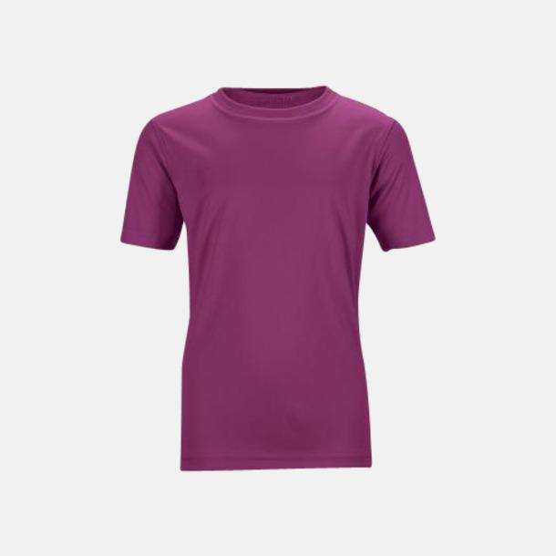 Lila Funktions t-shirts för barn - med reklamtryck