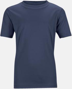 Marinblå Funktions t-shirts för barn - med reklamtryck