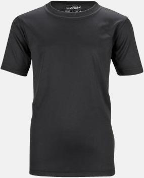 Svart Funktions t-shirts för barn - med reklamtryck