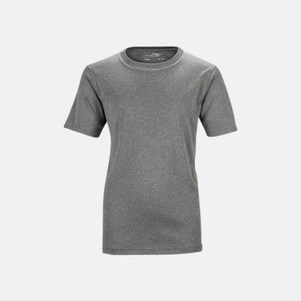 Dark Melange Funktions t-shirts för barn - med reklamtryck