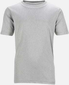 Light Melange Funktions t-shirts för barn - med reklamtryck