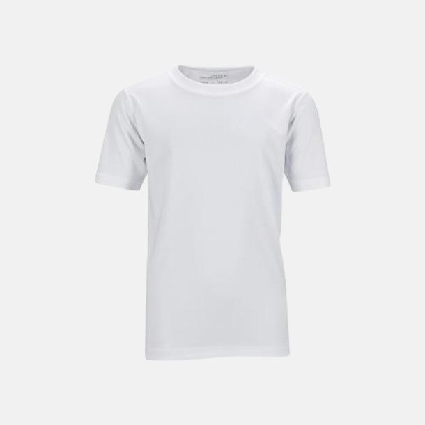 Vit Funktions t-shirts för barn - med reklamtryck
