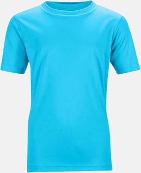 Turkos Funktions t-shirts för barn - med reklamtryck