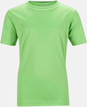 Limegrön Funktions t-shirts för barn - med reklamtryck