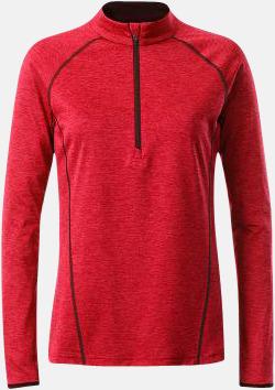 Red Melange/Titan (dam) Långärmade löpartröjor med reklamtryck