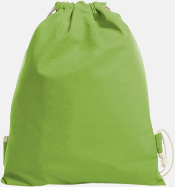 Apple Green Gympapåsar i bomull med reklamtryck