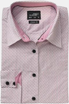 Finmönstrade skjortor och blusar med reklamtryck