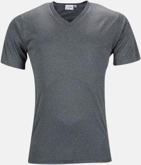 Dark Melange (herr) V-ringade funktionströjor i herr- & dammodell med reklamtryck