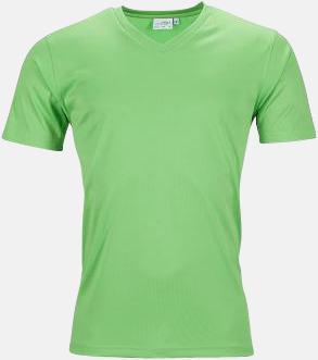 Limegrön (herr) V-ringade funktionströjor i herr- & dammodell med reklamtryck