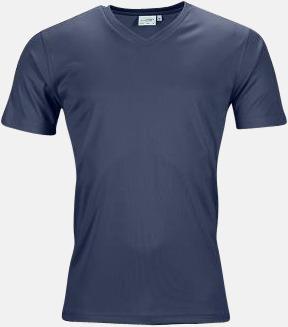 Marinblå (herr) V-ringade funktionströjor i herr- & dammodell med reklamtryck