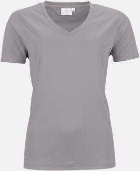 Light Melange (dam) V-ringade funktionströjor i herr- & dammodell med reklamtryck