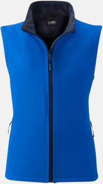 Nautic Blue/Marinblå (dam) Billigare softshell-västar med reklamtryck